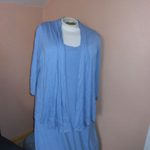 Anthony blue tank dress with cardigan